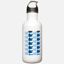 Whale Silhouette Print Water Bottle