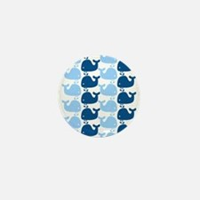 Whale Silhouette Print Mini Button