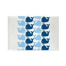 Whale Silhouette Print Rectangle Magnet