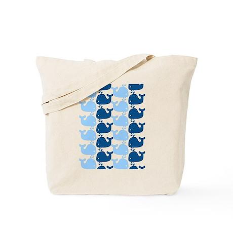 Whale Silhouette Print Tote Bag