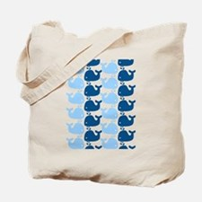 Whale Silhouette Print Tote Bag