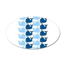Whale Silhouette Print Wall Decal