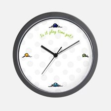 Pet Lover Playtime Yet Wall Clock
