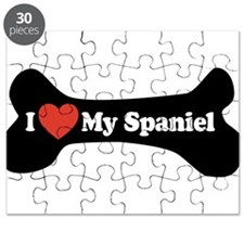 I Love My Spaniel - Dog Bone Puzzle