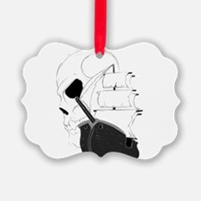 Skull Pirate Ship.png Ornament