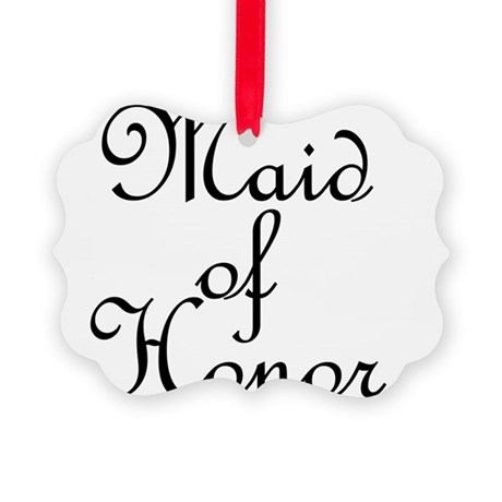 Maid of Honor.png Picture Ornament