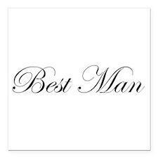 "Best Man.png Square Car Magnet 3"" x 3"""