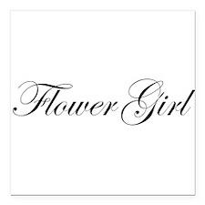 "Flower Girl.png Square Car Magnet 3"" x 3"""