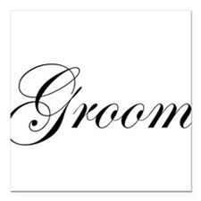 "Groom.png Square Car Magnet 3"" x 3"""