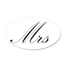 Mrs.png Oval Car Magnet