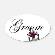 Groom Anchor.png Oval Car Magnet