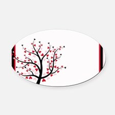 Valentines Save the Date.jpg Oval Car Magnet