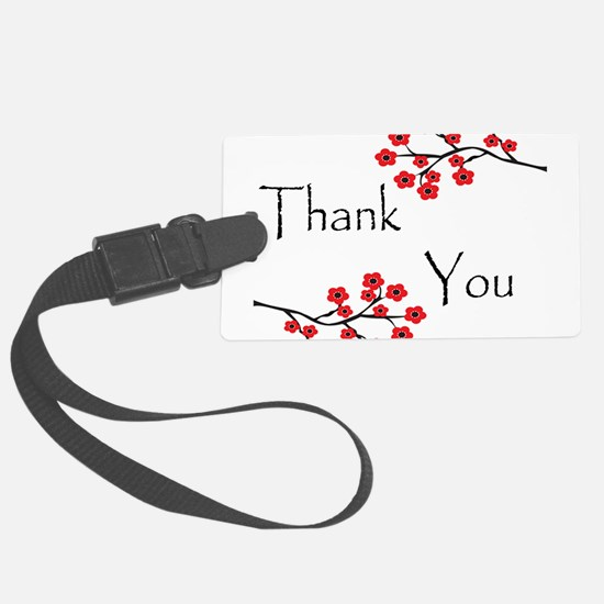 Red Cherry Blossoms Thank You.jpg Luggage Tag