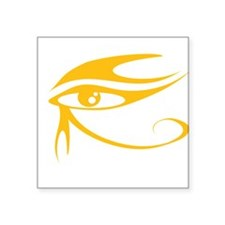 """Eye of Ra Gold.png Square Sticker 3"""" x 3"""""""
