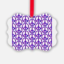 Peace Sign Print Pink Cherry Blossom.png Ornament