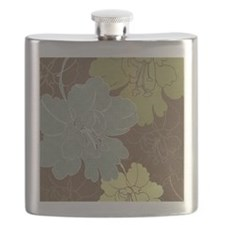Blue Brown Hibiscus.jpg Flask