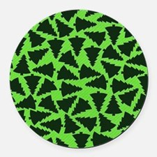 Green Xmas Trees.jpg Round Car Magnet
