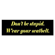 Don't be stupid. Bumper Bumper Sticker