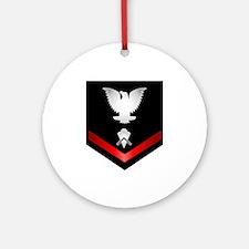 Navy PO3 Builder Ornament (Round)