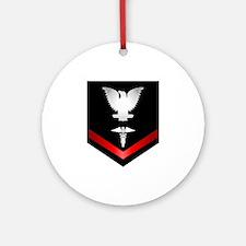 Navy PO3 Corpsman Ornament (Round)