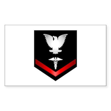 Navy PO3 Corpsman Sticker (Rectangle)