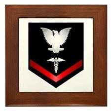 Navy PO3 Corpsman Framed Tile