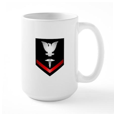 Navy PO3 Corpsman Large Mug