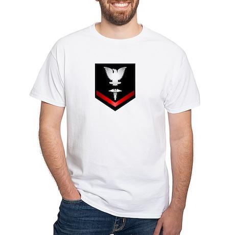 Navy PO3 Corpsman White T-Shirt