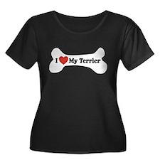 I Love My Terrier - Dog Bone T