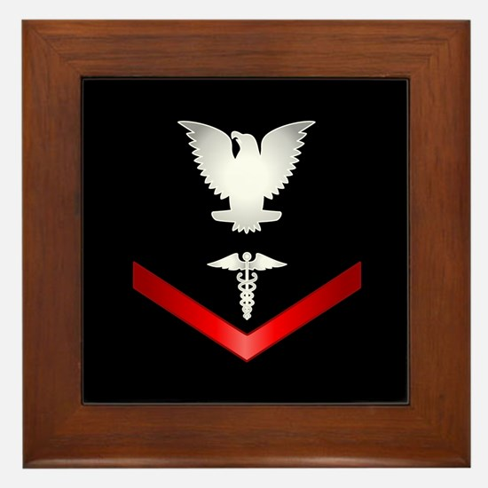 Navy PO3 Corpsman Framed Tile