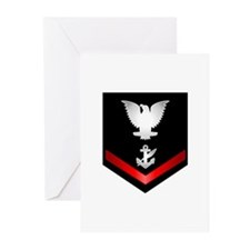 Navy PO3 Counselor Greeting Cards (Pk of 20)