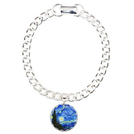 Van Gogh - Starry Night Charm Bracelet, One Charm
