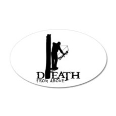 BOWHUNTING 20x12 Oval Wall Decal