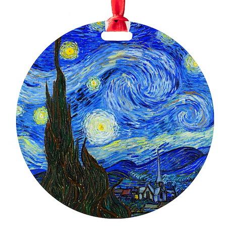 Van Gogh - Starry Night Round Ornament