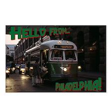 Philadelphia Holiday Trolley Postcards:8