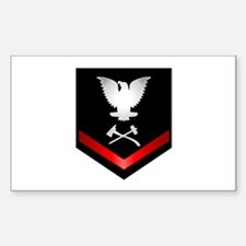 Navy PO3 Damage Control Sticker (Rectangle)