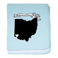 Cincinnati Ohio baby blanket