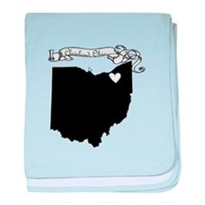 Cleveland Ohio baby blanket