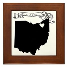Cleveland Ohio Framed Tile