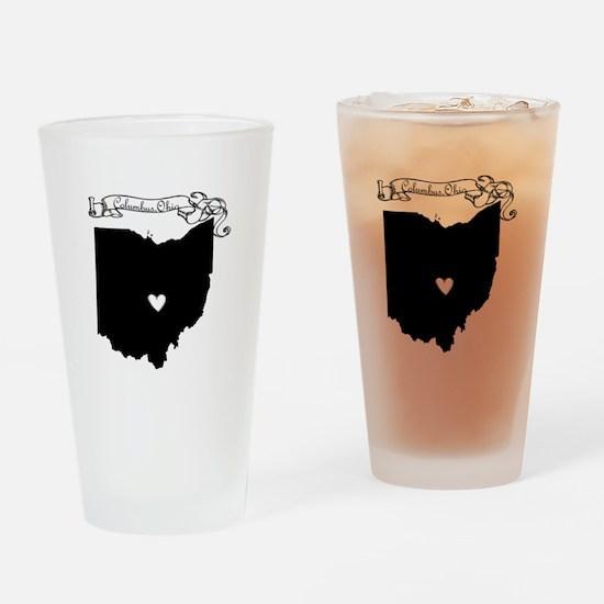 Columbus Ohio Drinking Glass