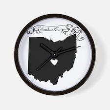 Columbus Ohio Wall Clock