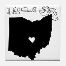 Columbus Ohio Tile Coaster