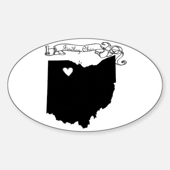 Findlay Ohio Sticker (Oval)