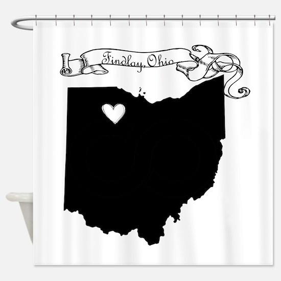 Findlay Ohio Shower Curtain