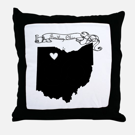 Findlay Ohio Throw Pillow