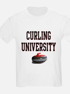 Curling University Kids T-Shirt