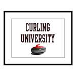 Curling University Large Framed Print