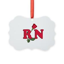 RN Nurses Rose Ornament