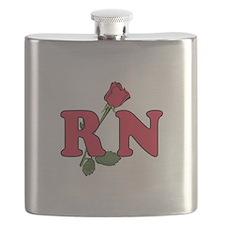 RN Nurses Rose Flask