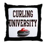 Curling University Throw Pillow